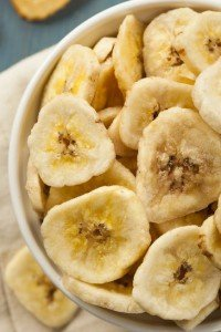 dehydrated banana chips