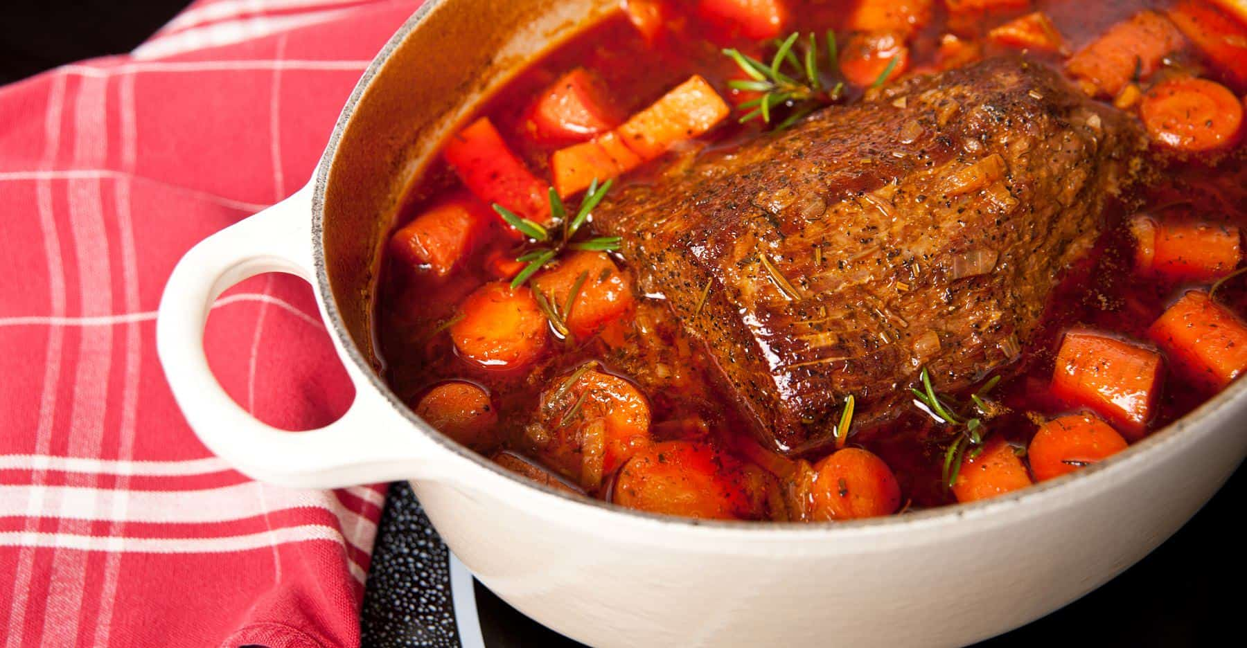 pot roast with onions and carrots