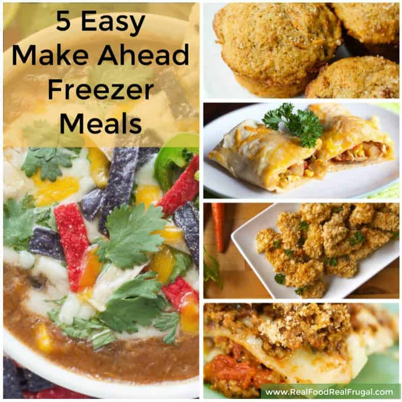 5 easy to make freezer meals