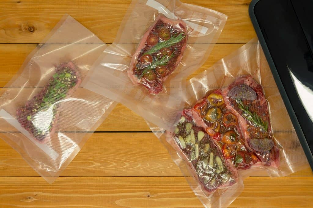 marinated meats premade for freezing in sealed bags