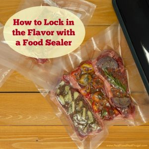 marinated meat with a food sealer