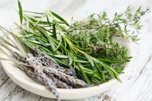 lavendar, rosemary and thyme