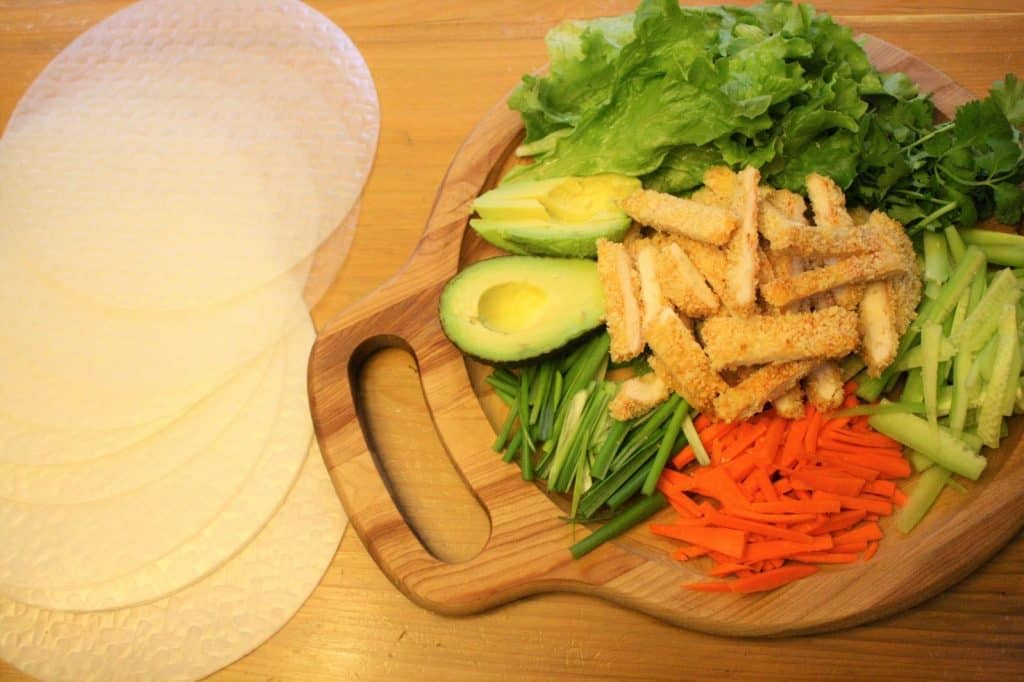Ingredients for Chicken Sushi Rolls