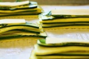 stacks of squash with gouda