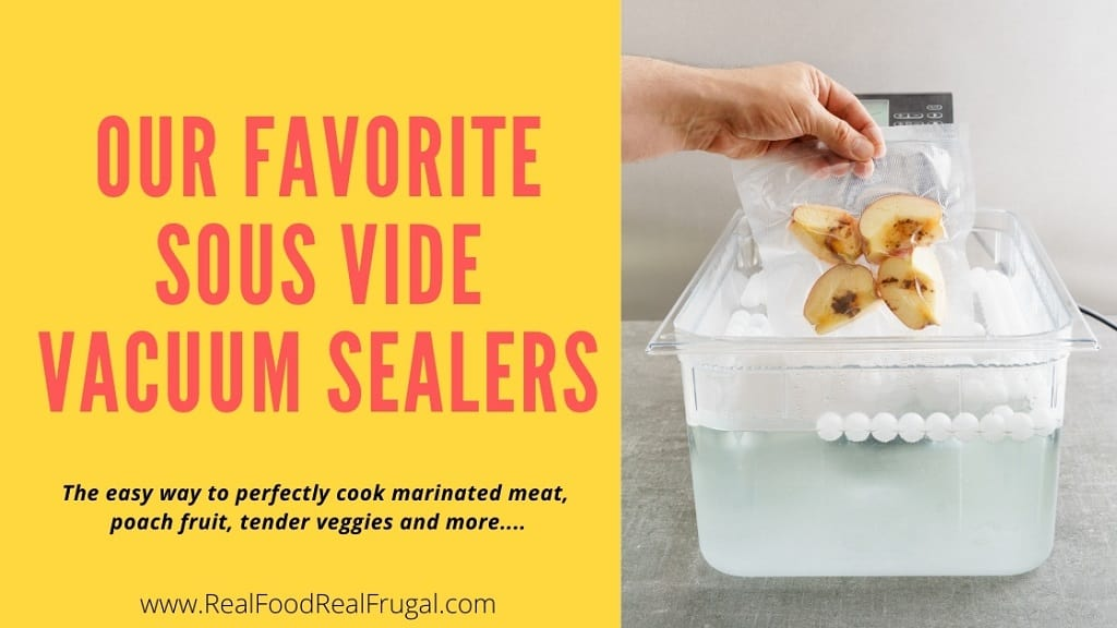 Our Favorite Sous Vide Vacuum Sealers - The easy way to perfectly cook marinated meat, poach fruit, tender veggies and more